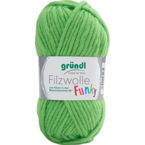 Gründl Bastelfilz »Filzwolle Funky«, 50 g, Neon-Grün