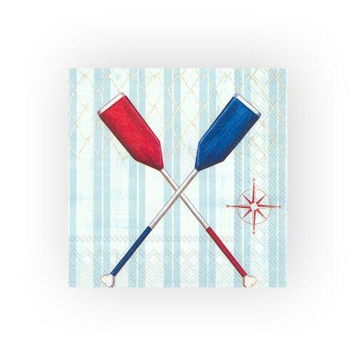 VBS Papierserviette »Serviette Paddel«, (5 St), 33 cm x 33 cm