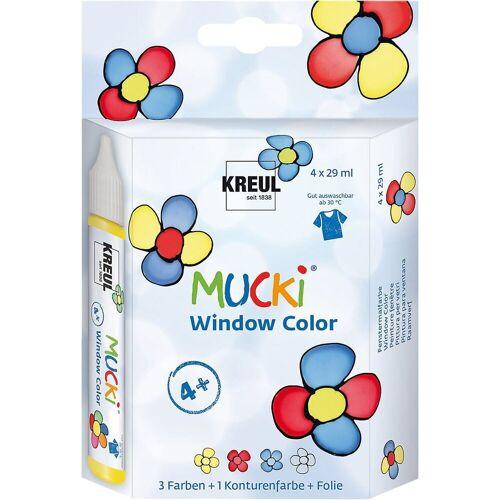 Kreul Fenstersticker »Mucki Window Color 4er-Set«,