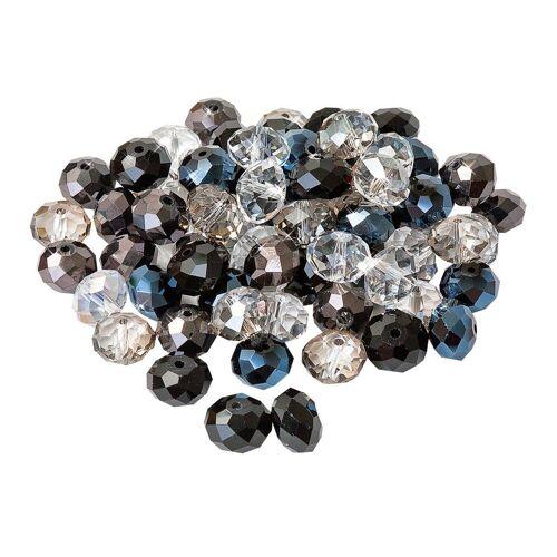 Diamond Dotz Bastelperlen, Ø 12 mm, 25 Stück, Schwarz/Kristall