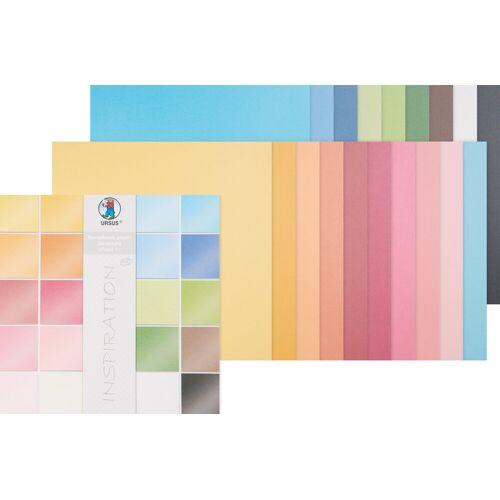 URSUS Papierkarton »Scrapbook-Block Struktur Pearl 1«, 20 Blatt
