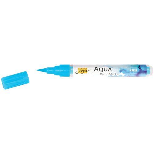 Kreul Aquarellstifte »Solo Goya Aqua Paint Marker«, Wasserbasis, Wasserverdünnbar, Cyan