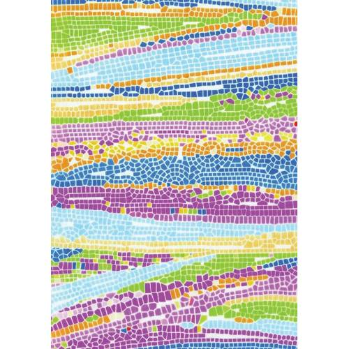 décopatch Motivpapier, 3 Stück, Krakelee Mosaik-Color