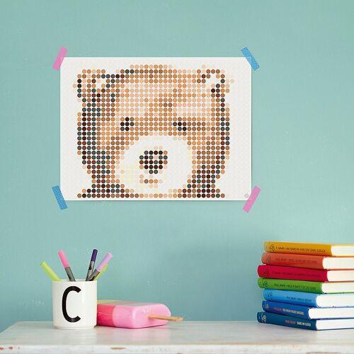 Dot On Malvorlage »art - cuddle - teddy, 30 x 40 cm«