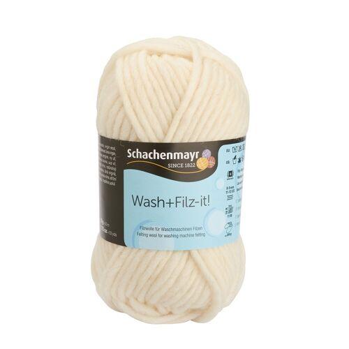 Wash+Filz-it! Bastelfilz »Schurwolle Filzwolle«, 50 g, Weiß, Farbe 02