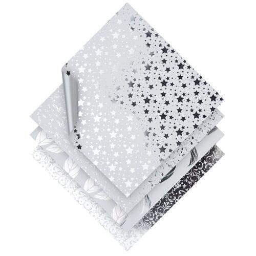 VBS Kraftpapier »Silver Foil«, 20 cm x 20 cm