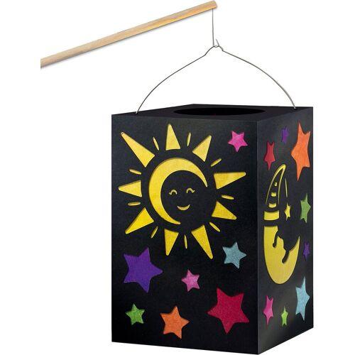 """URSUS Laterne »Laternen-Bastelset """"Sonne, Mond & Sterne""""«"""