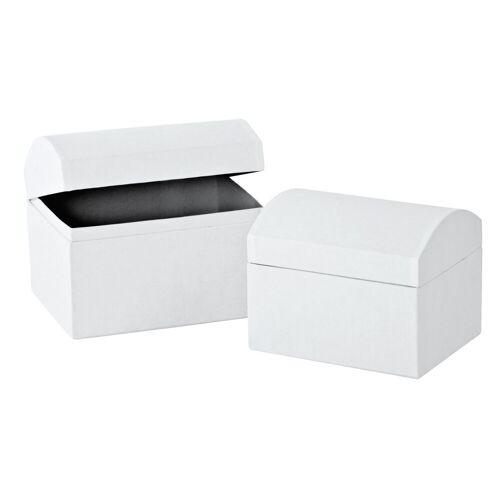 VBS Truhe, 2er-Set, aus weißem Karton