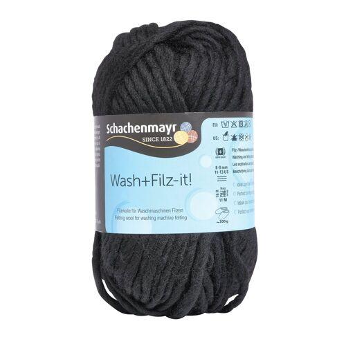 Wash+Filz-it! Bastelfilz »Schurwolle Filzwolle«, 50 g, Black, Farbe 01