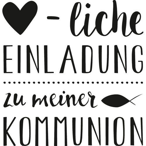 Heyda Stempel »Herzliche Einladung Kommunion«, 5,5 cm x 6 cm