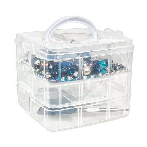 VBS Aufbewahrungsbox, Kunststoff, 15,5 cm x 15,5 cm x 13 cm