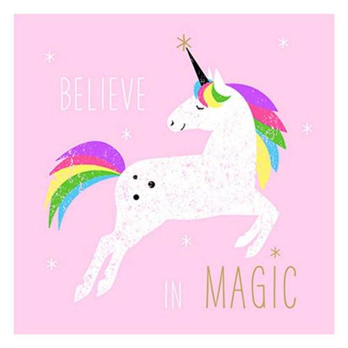 PPD Papierserviette »Birthday Pink Unicorn 20 Stück 33 cm«