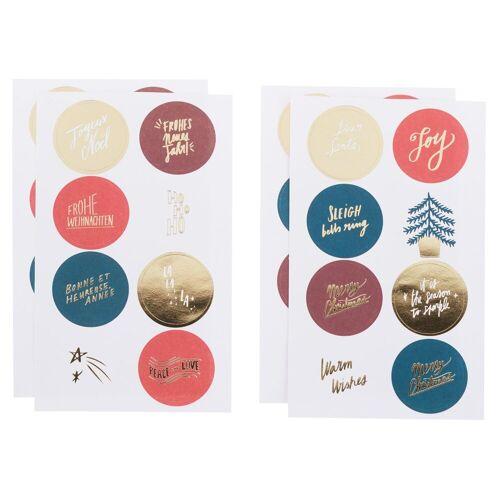 Rico-Design Verlag Sticker »Jolly Christmas«, 32 Stück