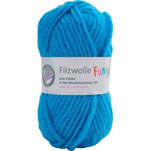 Gründl Bastelfilz »Filzwolle Funky«, 50 g, Neon-Blau