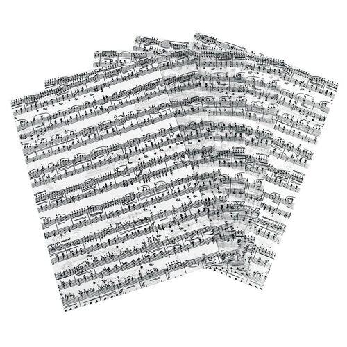 URSUS Transparentpapier »Noten«, 5 Stück