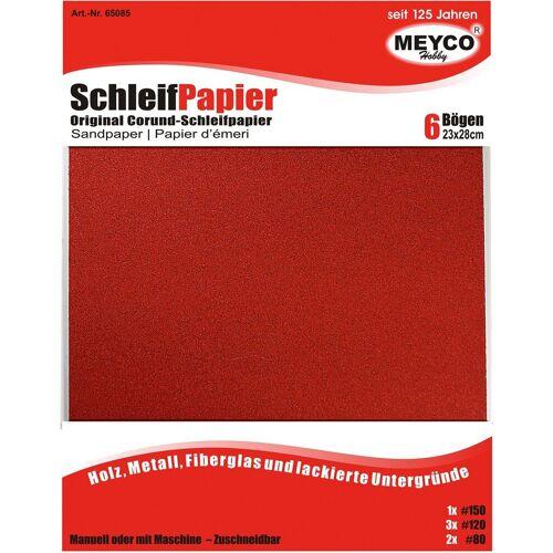 MEYCO Hobby Schleifpapier »Schleifpapier«, 6er-Set