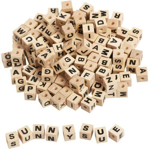 EDUPLAY Bastelperlen »Buchstabenwürfel Holz zum Auffädeln, 300 Stück«