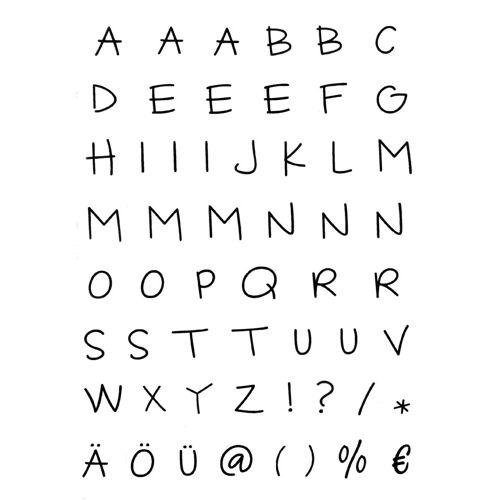 efco Stempel »Alphabet«, 55 Stück