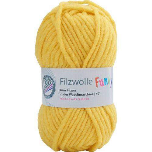 Gründl Bastelfilz »Filzwolle Funky«, 50 g, Neon-Gelb