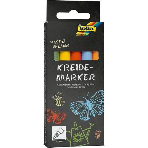 Folia Malkreide »Kreidemarker Pastell, 5er Set«