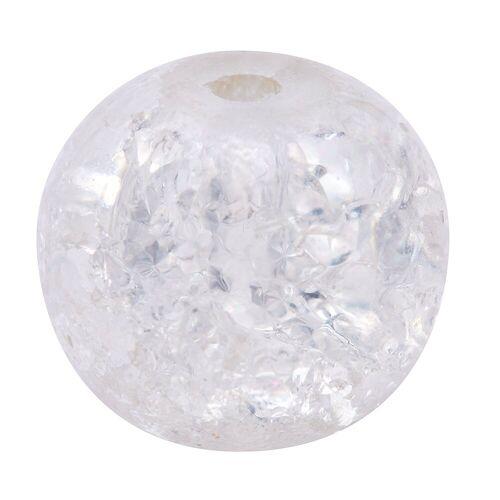 VBS Bastelperlen, Ø 8 mm, 20 Stück, Kristall