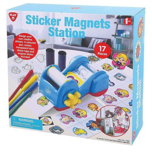 Playgo Sticker »Magnet-Sticker Maschine«