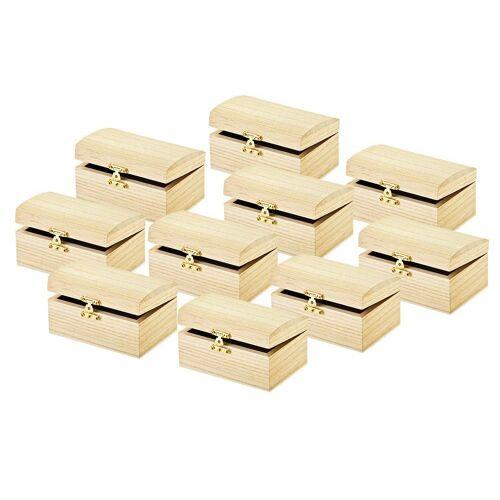 VBS Truhe, mit Verschluss, 10 Stück 12 cm x 8,0 cm x 6,5 cm