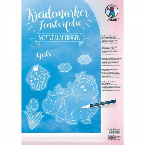 URSUS Fenstersticker »Kreidemarker Fensterfolie Girls«,