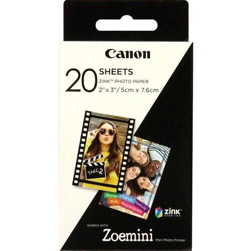 Canon Zink Druckerpapier für Zoemini ZP-2030 - 20 Blatt, weiß