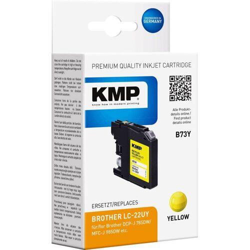 KMP »Druckerpatrone ersetzt Brother LC-22UY Gelb« Tintenpatrone