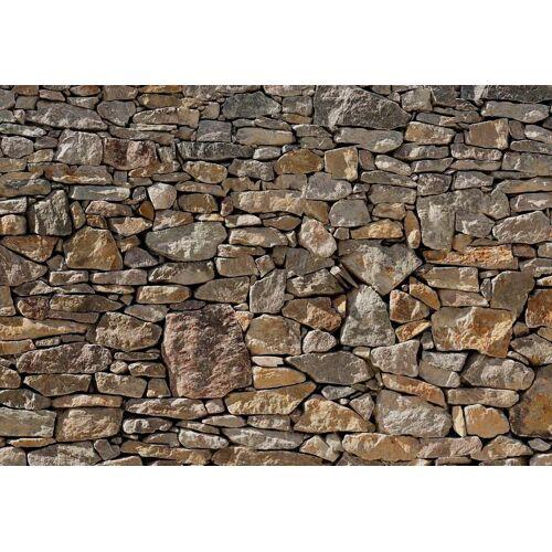 Komar Fototapete »Steinwand-Tapete 368x254cm«, glatt, Steinoptik