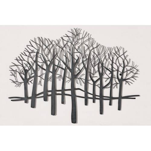 heine home Wanddeko Bäume, schwarz