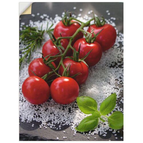 Artland Wandbild »Tomaten Rispe auf Salz«, Lebensmittel (1 Stück)