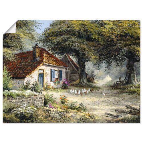 Artland Wandbild »Märchenhaftes Ferienhaus«, Garten (1 Stück)