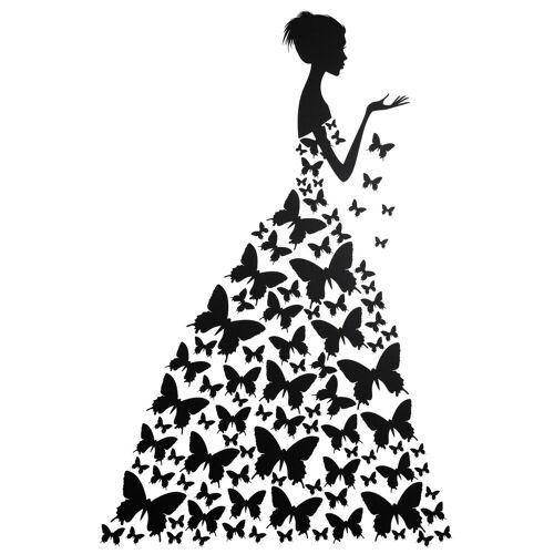 ART Wall-Art Wandtattoo »Schmetterlingsfrau«