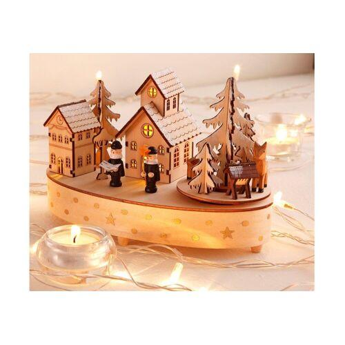 Home affaire Spieluhr »Weihnachtsdorf«, natur