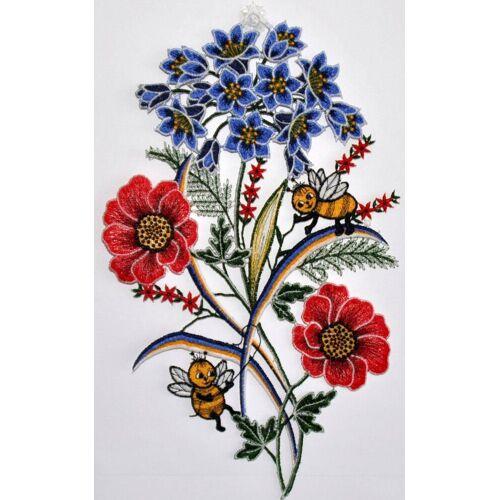 Stickereien Plauen Fensterbild »Fensterbild Blumen« (1 Stück), Echte Plauener Spitze