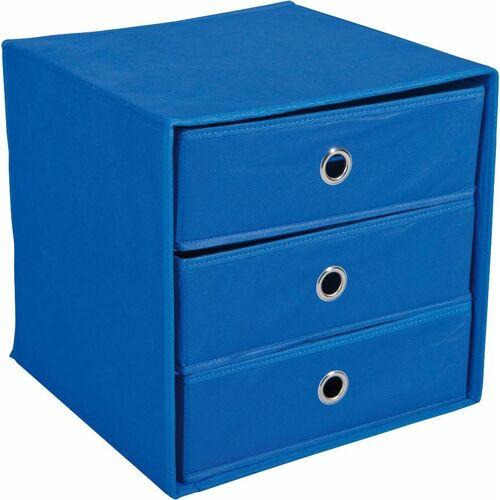 Home affaire Aufbewahrungsbox »Willy«, mit 3 Schubladen, blau