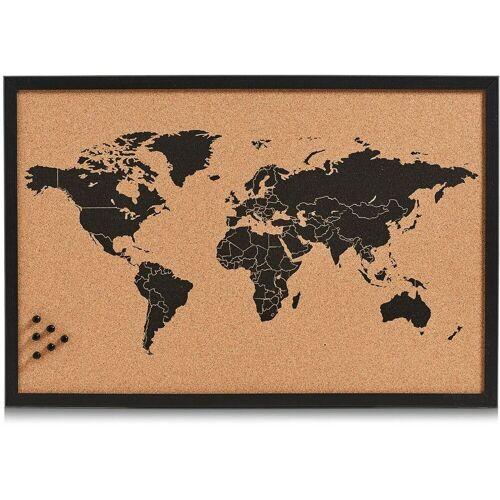 Home affaire Pinnwand »World«, Memoboard, aus Kork, Motiv Weltkarte