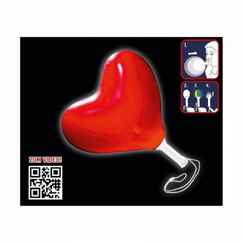 Happy People LED-Leuchtballon Herz mit Farbwechsel