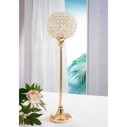 Home affaire Kerzenständer »Kristall«, goldfarben