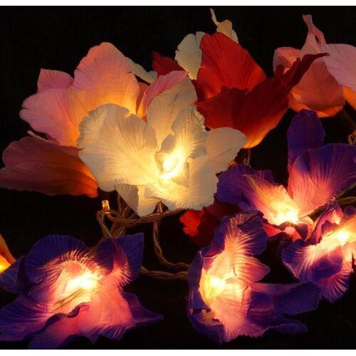 Guru-Shop LED-Lichterkette »Lotus Blüten LED Lichterkette 20 Stk. - Blüte..«, Blüte bunt