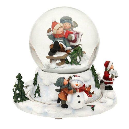 SIGRO Schneekugel »Schneekugel Kinder auf Schlitten«