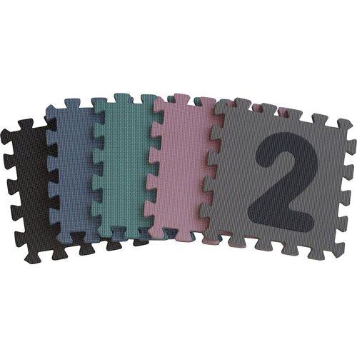 BABY-DAN Puzzlematte »Dusty Grey Playmat, 90 x 90 x 1,4 cm«, Puzzleteile, blau