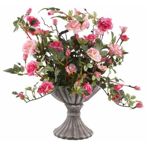 Home affaire Kunstpflanze »Wildrosen« Wildröschen, , Höhe 41 cm, weiß/rosa