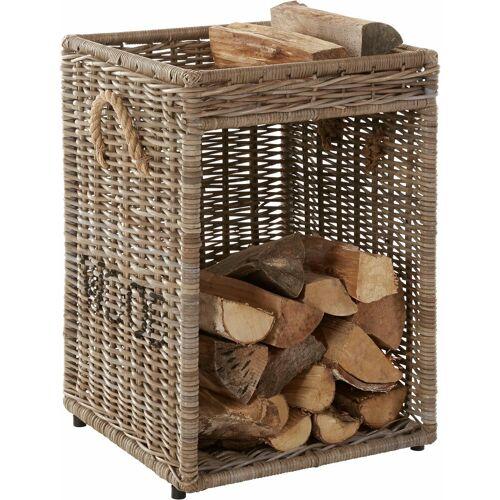 Home affaire Holz-Aufbewahrungsbox, grau