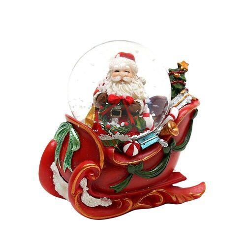 SIGRO Schneekugel »Schneekugel Santa mit Schlitten«