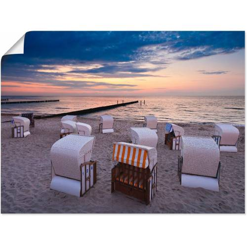 Artland Wandbild »Strandkörbe an der Ostsee«, Strand (1 Stück)