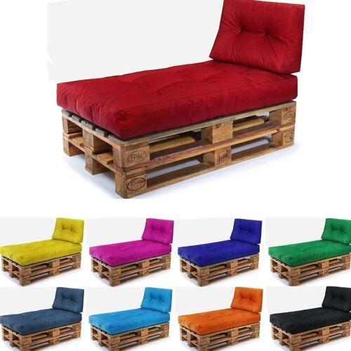 Easysitz Sitzkissen »Palettenkissen Set 2«, 120 x 80 cm für Europaletten, Rot