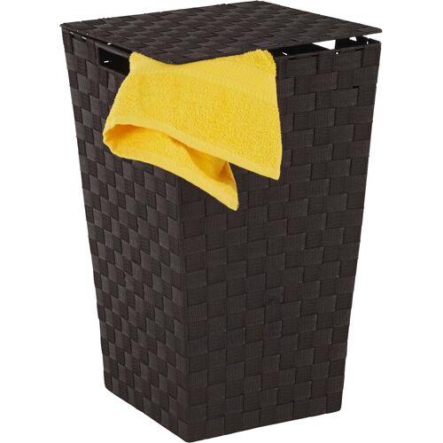 Home affaire Wäschekorb, aus Nylon und Metall, schwarz